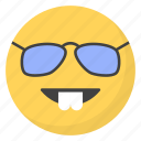 emoji, emotag, emoticon, emotion, nerd emoticon icon