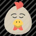 egg emoji, emotag, emoticon, emotion, eyes down egg icon