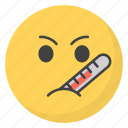 emoji, emotag, emoticon, emotion, sick emoji icon