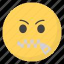 emoji, emotag, emoticon, emotion, zipper emoticon icon
