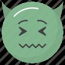 devil face, emoji, emotag, emoticon, emotion icon