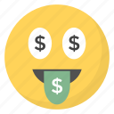 emoji, emotag, emoticon, emotion, money mouth face icon