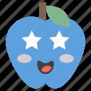 emoji, emotag, emoticon, emotion, heart eyes apple icon