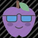 emoji, emotag, emoticon, emotion, sunglasses apple icon