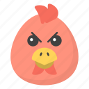 angry bird, emoji, emotag, emoticon, emotion icon