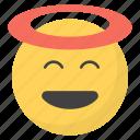 emoji, emotag, emoticon, emotion, innocent emoji icon