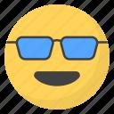 emoji, emotag, emoticon, emotion, sunglasses emoji icon