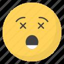 dizzy face, emoji, emotag, emoticon, emotion icon