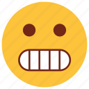cartoon, character, dull, emoji, emotion, face, stare icon