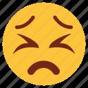 bemused, cartoon, character, emoji, emotion, face, upset