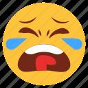 cartoon, crying, emoji, emotion, face, sad, smiley