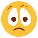 bemused, cartoon, emoji, emotion, face, nodding, sad