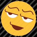 cartoon, emoji, emotion, face, happy, smiley, wink icon