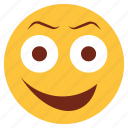 cartoon, emoji, emotion, face, happy, non-serious, smile
