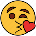 cartoon, character, emoji, emotion, face, heart, love