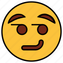 cartoon, character, emoji, emotion, face, smiley, wink icon