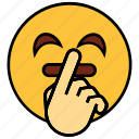 cartoon, emoji, emotion, face, hand, happy, smiley icon