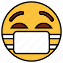 cartoon, character, doctor, emoji, emotion, face, mark icon