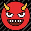cartoon, devil, emoji, emotion, evil, face, smiley