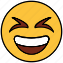 cartoon, character, emoji, emotion, face, laugh, smiley icon