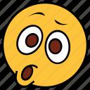 cartoon, character, emoji, emotion, face, shock, surprise