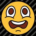 cartoon, character, emoji, emotion, face, sad, shock