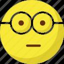 emoticons, geek, glasses, happy icon