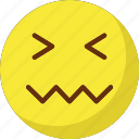 lip seal, lour, rage, sad icon