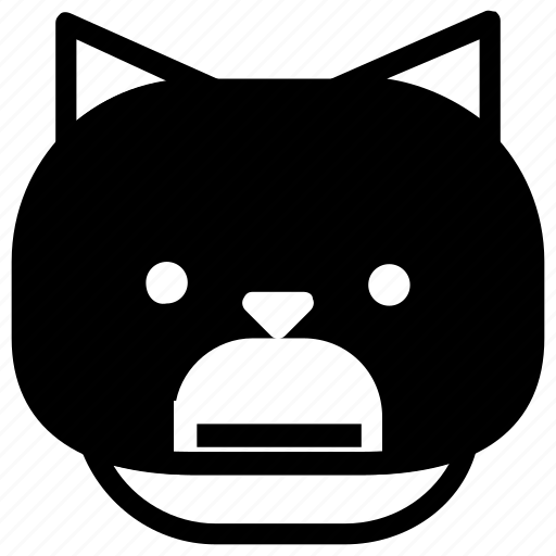 angry, cat, emoticon icon