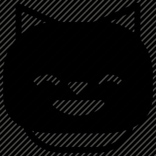 cat, emoticon, smile icon