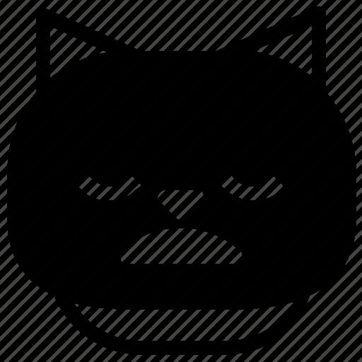 cat, emoticon, groan icon