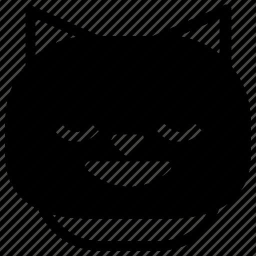 cat, emoticon, happy icon