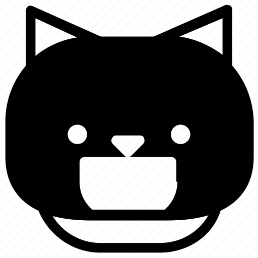 cat, emoticon, happy, laugh icon