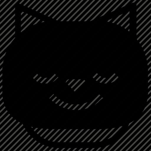 cat, emoticon, happy, smile icon