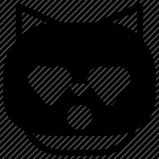 cat, emoticon, love icon
