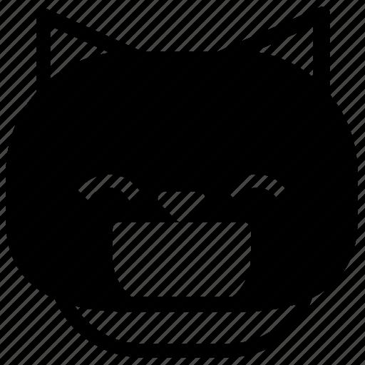 cat, emoticon, happy, laugh icon