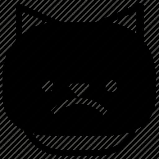 cat, emoticon, sad icon