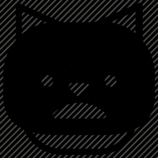 cat, emoticon, unhappy icon