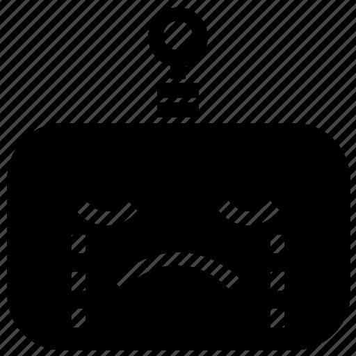 Emoticon, cry, robot icon