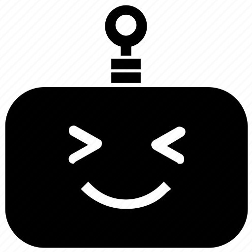 emoticon, giggle, robot icon