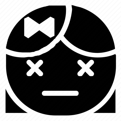emoticon, girl, tired icon