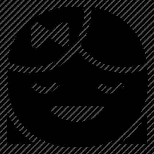 emoticon, girl, happy, laugh icon