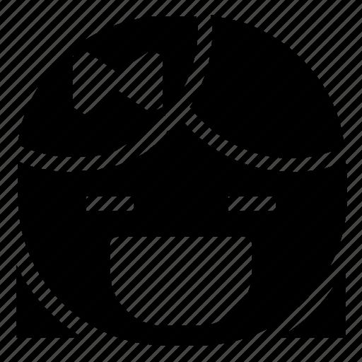 emoticon, girl, laugh icon