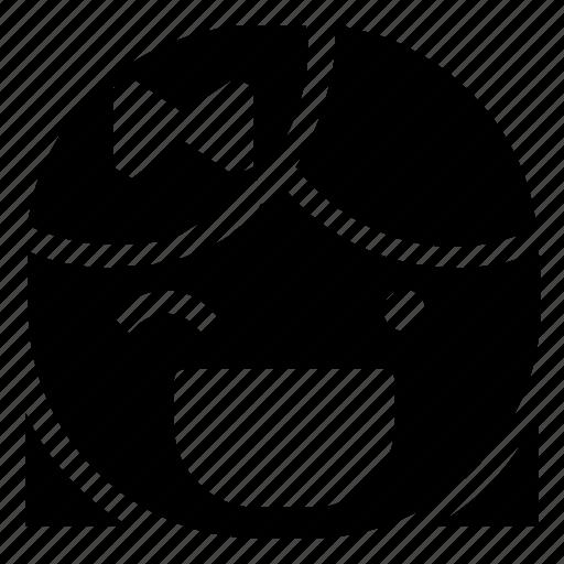 emoticon, girl, wink icon