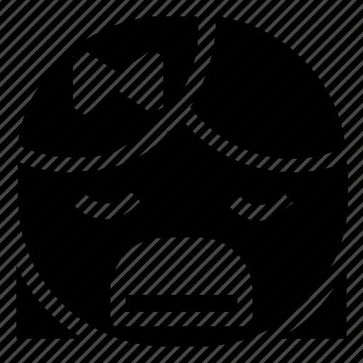 emoticon, girl, irritated icon