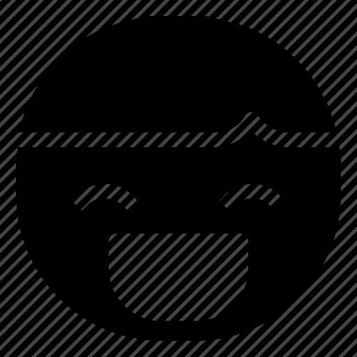 boy, emoticon, grin, laugh icon