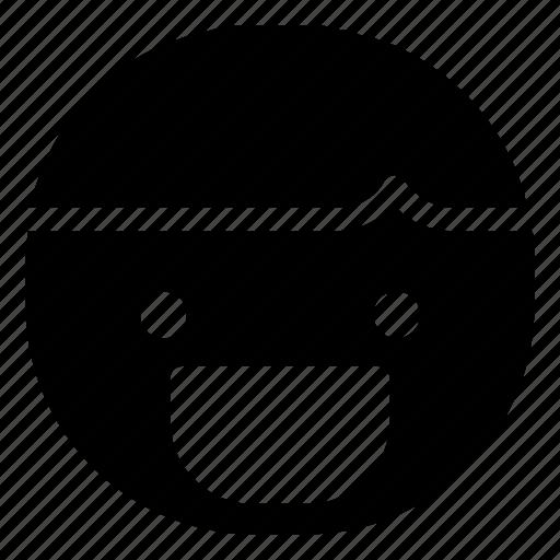 boy, emoticon, grin icon