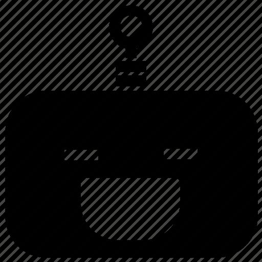 emoticon, grin, robot icon