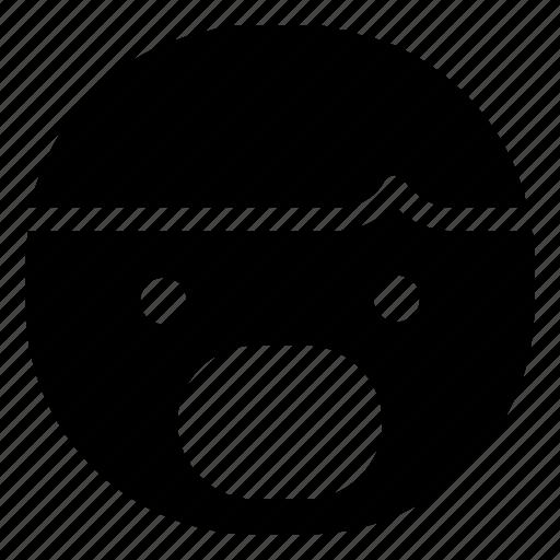 boy, emoticon, shock icon
