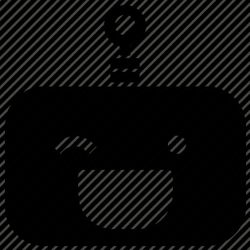 emoticon, robot, wink icon